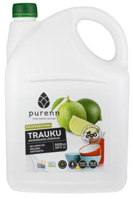 Trauku mazgāšanas līdzeklis ar mellenēm un laimu